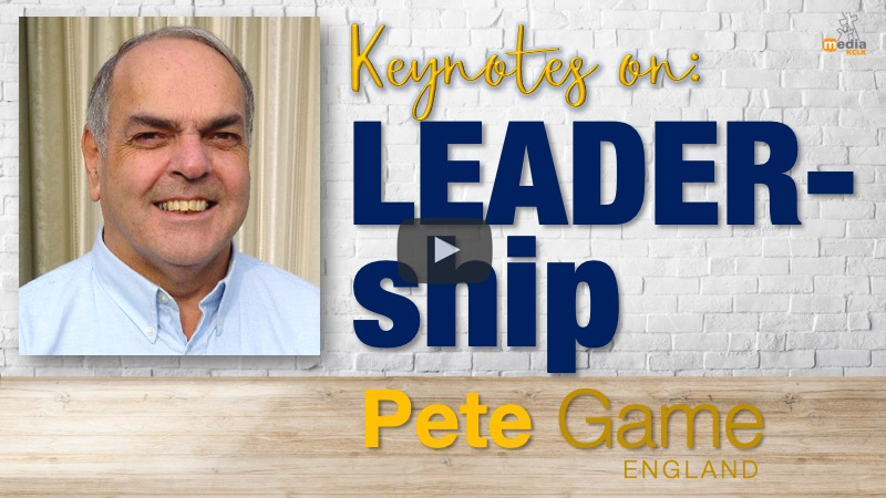 Keynotes on leadership - with Pete Game