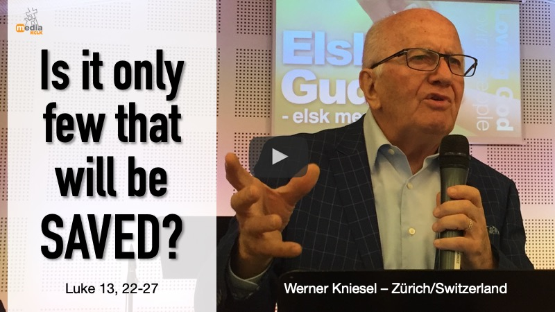 Is it only few that will be saved? - Werner Kniesel