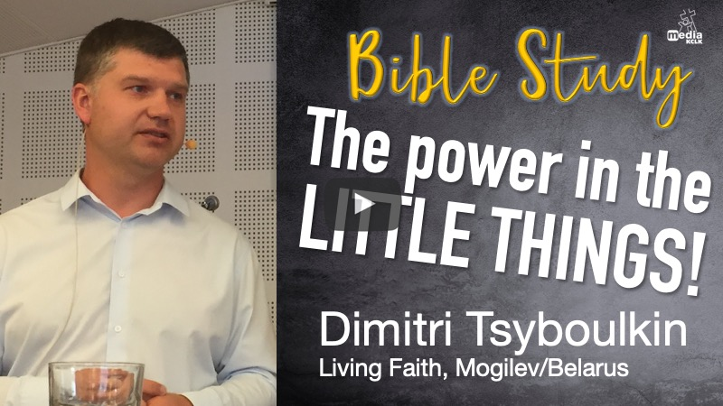 The power in the little things - Dimitri Tsyboulkin